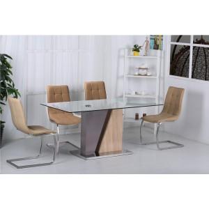 Olivia PU Chairs Chrome &...