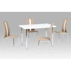 Naomi PU Chairs Chrome &...