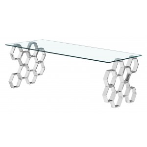 Quetta Silver Clear Glass...