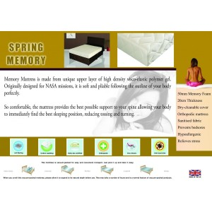 Memory Spring Mattress Double