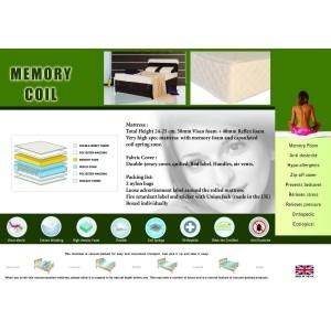 Memory Coil Mattress Single