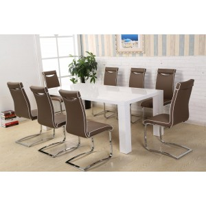 Melinda PU Chairs Chrome &...