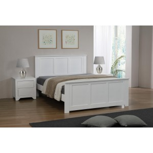 Mali King Size Bed White